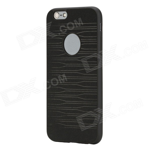 ROCK Pattern Series Protective TPU + PU Leather Back Case for IPHONE 6 4.7 - Black чехол для для мобильных телефонов rcd samsung galaxy 4 iv n910c n910f n910s n910l n910k for samsung galaxy note 4 iv n9100 n9106w n9108v n9109wn910u