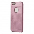 "ROCK Pattern Series Protective TPU + PU Leather Back Case for IPHONE 6 4.7"" - Pink Purple"