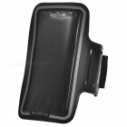 Trendy Dual-Hole Velcro Nylon + PVC Sports Armband for IPHONE 6 PLUS - Black (25cm)