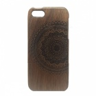 LS-I5 Patterned Detachable Protective Wood Back Case Cover for IPHONE 5 / 5S - Brown