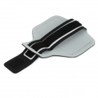 Trendy Velcro Nylon + PVC Sports Armband for IPHONE 6 - Black + White (25cm)
