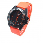 WEIPENG W-10 Men's Sports Outdoor Cloth Belt Analog Quartz Wrist Watch - Orange (1 x LR626)