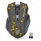 Jiete 3231 2.4GHz Wireless 1000 / 1200 / 1600dpi Mouse w/ USB Receiver - Yellow + Black