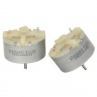 500TB Micro DC Motors for Alarm / Mixer - Silver (2 PCS / 3~12V)