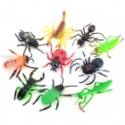 10-in-1 Practical Joke Educational Lifelike Insect Shaped Toy Set - Black + Multi-Color (10 PCS)
