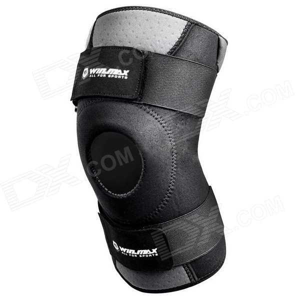 WIN.MAX WMF09013 Adjustable Neoprene Sports Knee Protector Guard - Black
