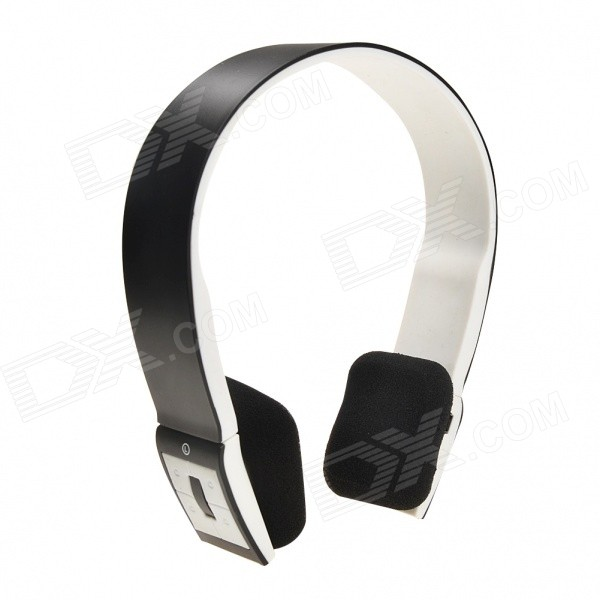 Wireless Stereo Bluetooth V3.0 Headband Headphone w/ Mic. for IPHONE / IPAD + More - Black + White