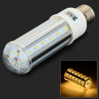 JRLED E27 10W 800lm 3200K 42-SMD 2835 LED Warm White Corn Lamp - White + Silver (AC 85~265V)