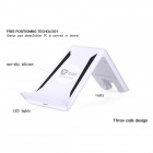 Itian A6-5 QI Wireless Charger Stand w/ Receiver Module for Samsung Galaxy S5 - White