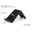 Itian A6-5 QI Wireless Charger Stand w/ Receiver Module for Samsung Galaxy S5 - Black