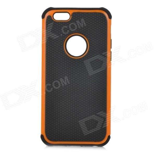 Фото 3-in-1 Protective Plastic Case for IPHONE 6 4.7 - Black + Orange gumai silky case for iphone 6 6s black