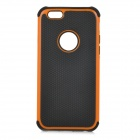 "3-in-1 Protective Plastic Case for IPHONE 6 4.7"" - Black + Orange"