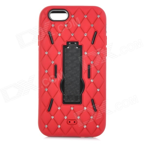 3-in-1 AnticollisionProtective Plastic + Silicone Case w/ Holder for IPHONE 6 4.7