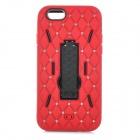 "3-in-1 AnticollisionProtective Plastic + Silicone Case w/ Holder for IPHONE 6 4.7"" - Red + Black"