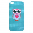 "Stylish Owl Patterned Protective TPU Back Case Cover for IPHONE 6 PLUS 5.5"" - Blue-Green + Deep Pink"