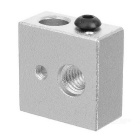 3D Printer Heating Aluminum Block for Makerbot MK7 / MK8 - Silver