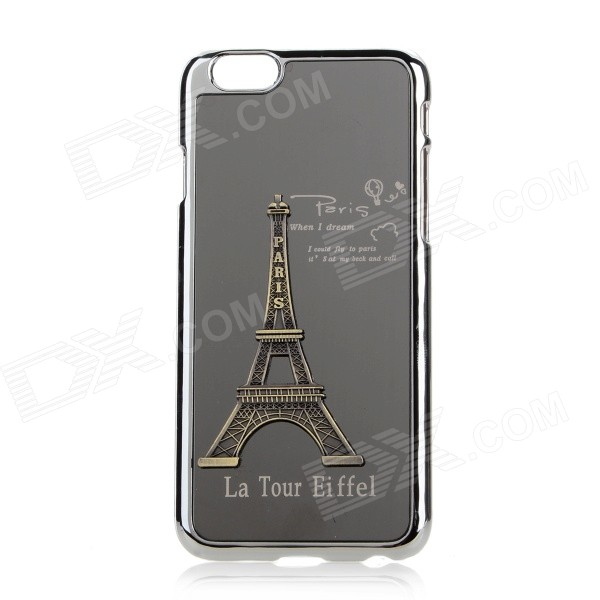 Eiffel Towel Pattern Plastic + Aluminum Alloy Back Case for IPHONE 6 4.7