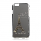 "Eiffel Towel Pattern Plastic + Aluminum Alloy Back Case for IPHONE 6 4.7"" - Black + Silver"