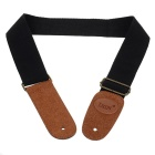 FENDER Cotton + Leather Guitar Strap (Black)