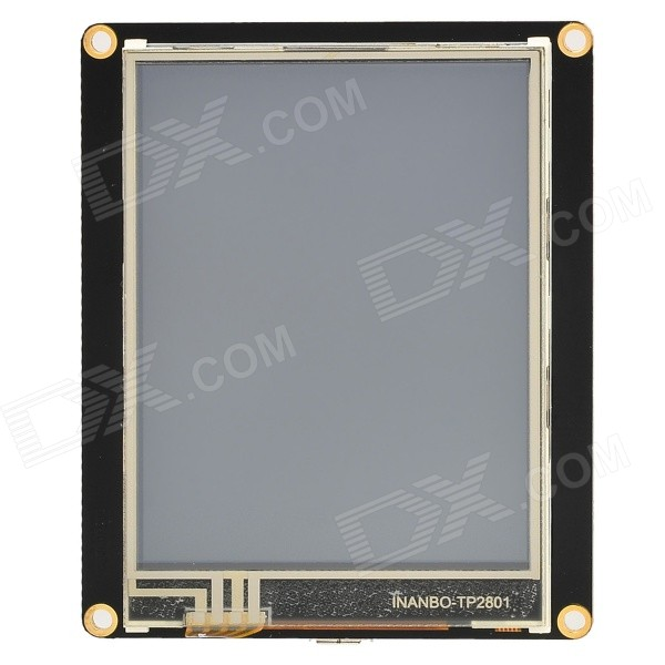 Robopeak 2.8 LCD Resistance Touch Screen Module w/ Micro USB - Black usb to rs485 module black