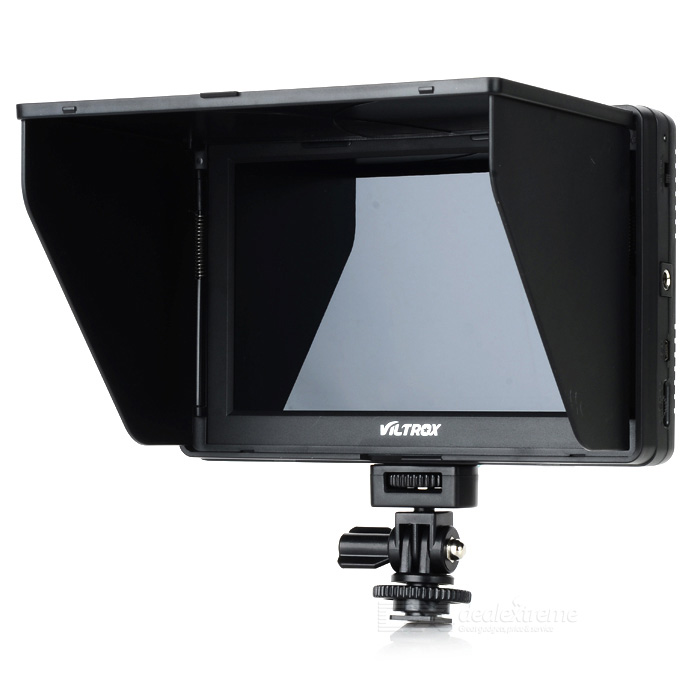 VILTROX DC-70 Universal 7 LCD Monitor for DSLR / Video Camera - Black aputure digital 7inch lcd field video monitor v screen vs 1 finehd field monitor accepts hdmi av for dslr