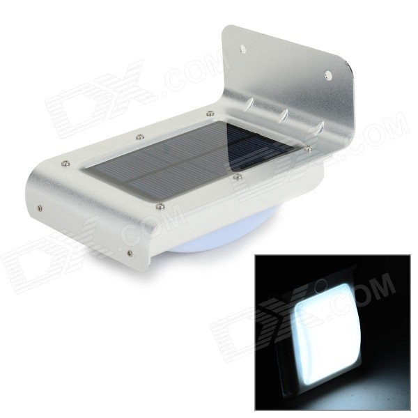 XUNRUIXING YY-001 Solar LED Motion Sensor + Light Control Home Garden Wall Light - Silver