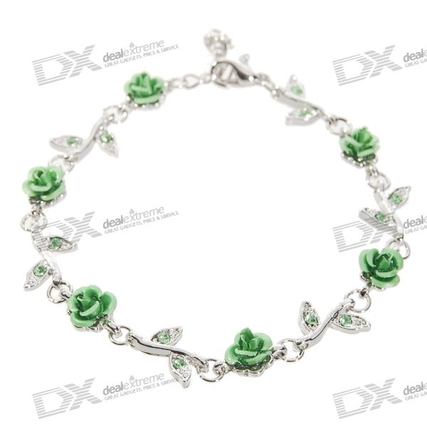 Lovely Rose Bracelet Party Gift Green