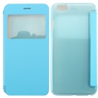 "MO.MAT Ultrathin Flip Open PC + PU Case w/ Display Window for IPHONE 6 PLUS 5.5"" - Blue"