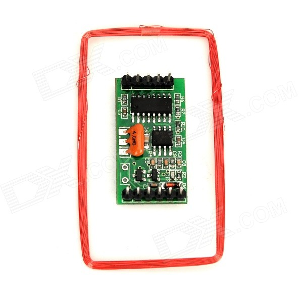EM08 125KHz EM ID Card Reader Module w/ Antenna Coil - Green 125khz rs232 long range passive rfid reader support em4200 card and tk4100 card used for automated parking management system