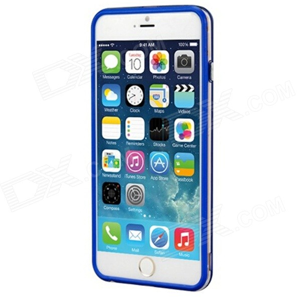 Protective Plastic Bumper Frame Case for IPHONE 6 PLUS - Blue mercury goospery blue moon magnetic leather case for iphone 6s plus 6 plus dark blue
