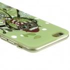 "Owl Pattern Protective TPU Case for IPHONE 6 4.7"" - Green + Multi-Color"