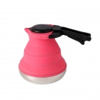 Portable Foldable Silicon Kettle - Pink (1.5L)