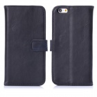 "Hat-Prince Protective PU Leather + Plastic Case w/ Stand and Card Slot for IPHONE 6 4.7"" - Black"