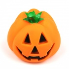 Halloween Rubber Pumpkin Scream Sound Pets Toy for Cat / Dog - Orange + Green