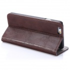 "Enkay protección de poliuretano Funda de cuero w / Stand for IPHONE 6 4.7 ""- Deep Brown"