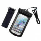 "ZCHW Waterproof Protective Bag Pouch w/ Strap + Arm Band for IPHONE 6 4.7"" - Black"