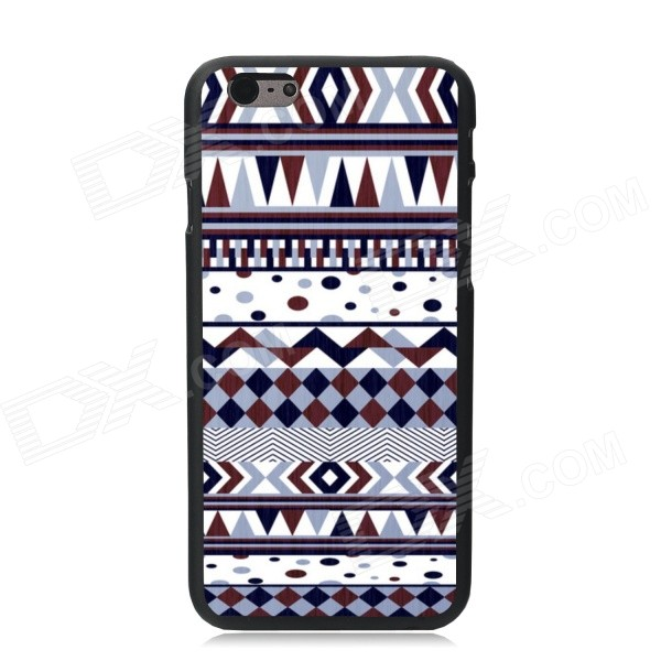 Elonbo Tribal Patterned Plastic Hard Back Cover Case for IPHONE 6 4.7 - White + Brown tpu imd patterned gel cover for iphone 7 4 7 inch dream catcher
