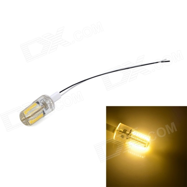 G4 4W 200lm 3200K 64 x SMD 3014 LED Warm White Light Lamp - Yellow + Transparent (220~240V)