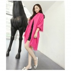 Fashionable Ultra Long Cashmere Scarf Shawl - Deep Pink