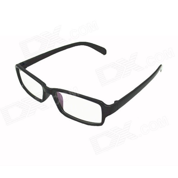 Resin Lens Anti-Radiation Fatigue-resistant Plain Glass Spectacles - Black