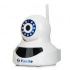 "YanSe YS-3901 1/4"" CMOS 1.0MP HD Wireless Surveillance IP Camera w/ 11-IR-LED / Wi-Fi - White"