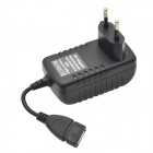 3A EU Plug USB Wall Charger Power Adapter for Mobile Phone / Tablet PC - Black