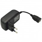 EU Plug USB Wall Charger Adapter for Mobile Phone / Tablet PC - Black