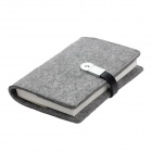 U BOOK S02-CJ3214 Wool Felt 32K Notebook w/ 4GB USB 2.0 Flash Disk - Light Grey