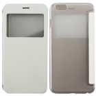 Ultrathin Flip Open PC + PU Case w/ Display Window for IPHONE 6 PLUS - White