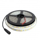 Waterproof 300-SMD 5050 Warm White LED Strip Light w/ Cable Dimmer / US Plug AC Adapter (5m / 12V)