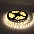 Impermeável 300-SMD 5050 branco quente LED Strip Light w / Dimmer cabo / US Plugss AC Adapter (5m / 12V)