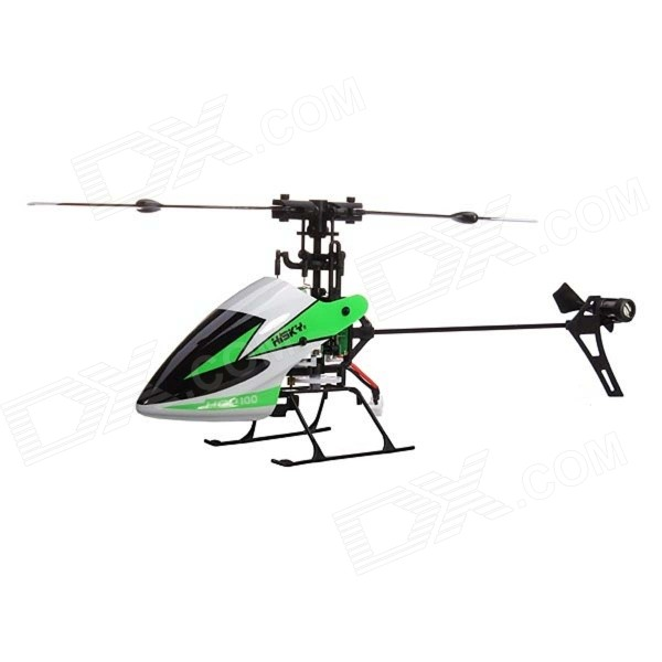 Hisky HCP100 2.4GHz 6-CH 3-Axis Gyro Flybarless R/C Helicopter - Green + White wltoys wl r4 2 9 lcd 6 axis multi function remote controller for r c toy black 4 x aa