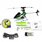 Hisky HCP100 2.4GHz 6-CH 3-Axis Gyro Flybarless R/C Helicopter - Green + White