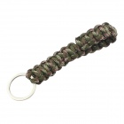 Outdoor Survival Emergency Bracelet Style Nylon Parachute Cord Rope w/ Key Ring - Army Green